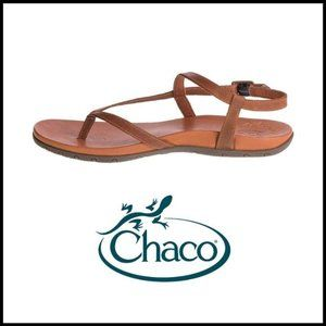 NWOB CHACO Rowan Thong Rust Leather Sandal, 9M